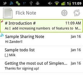 Flick Note