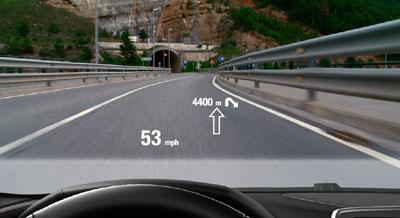 فناوری موقعیتیاب در پنجره جلوی اتومبیل