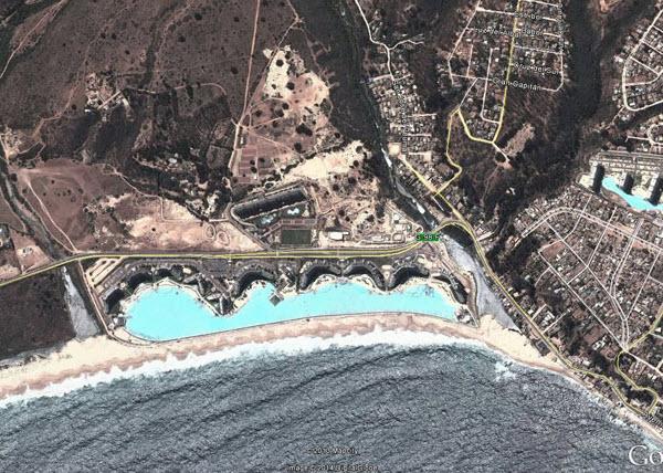 بزرگترین استخر دنیا، در آلگاروبو در شیلی