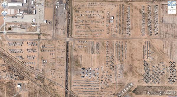 توکسان آریزونا، محلی وسیع برای نگهداری هواپیماهای قدیمی