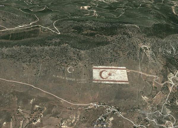 پرچم ترکیه در کایرنیای قبرس