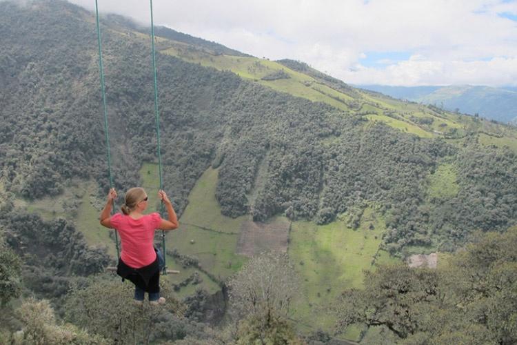 هیجانانگیزترین تاب جهان در اکوادور
