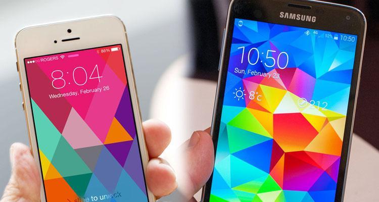 مقایسه بین آیفون 5s و گلکسی S5