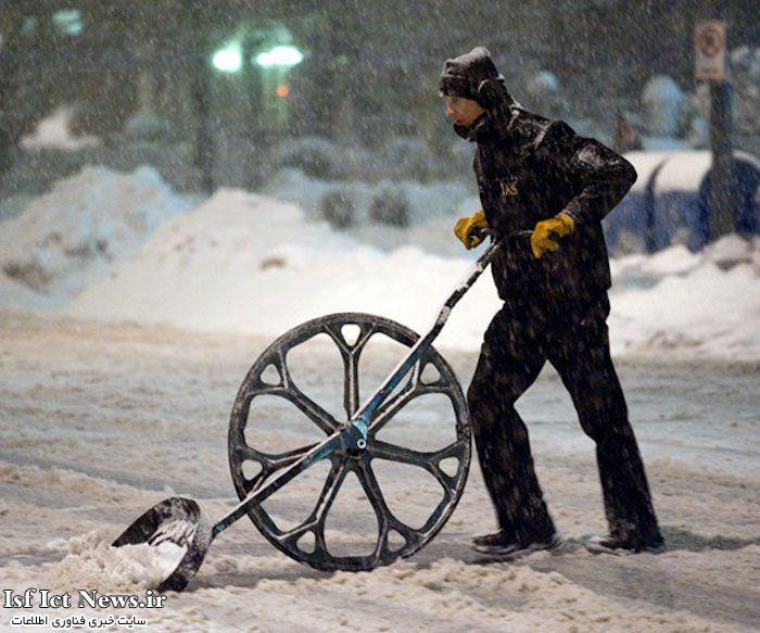 قاب تاشو برف گرگ چرخ دار برف بیل