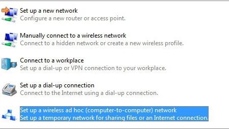 اتصال وای فای میان لپ تاپ ها