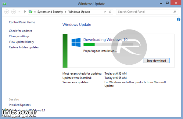 Windows 10 force download 5