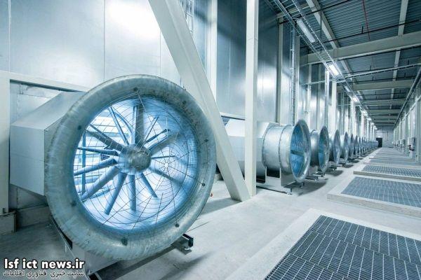 دمای این سرورها باید تا حد ممکن پایین نگه داشته شود و از گرم شدن بیش از اندازه آنها چلوگیری به عمل آید. به همین خاطر این شرکت در تاسیسات خود واقع در سوئد با استفاده از نوعی سیستم مکنده، هوای خنک را به داخل این مرکز می فرستد.