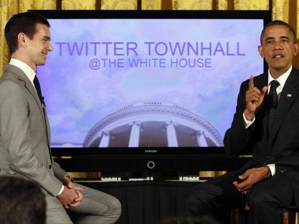 در سال 2011، دورسی این شانس را پیدا کرد تا با باراک اوباما رئیس جمهور آمریکا در نخستین گردهمایی مجازی توئیتر مصاحبه نماید.